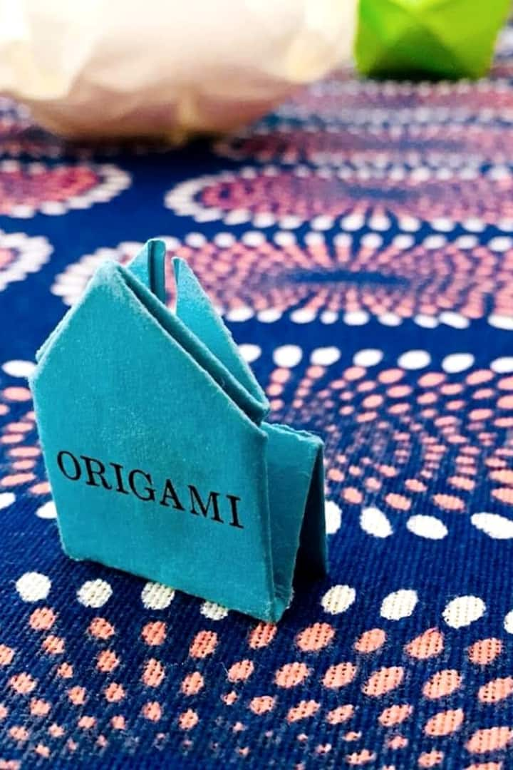 Origami with a card