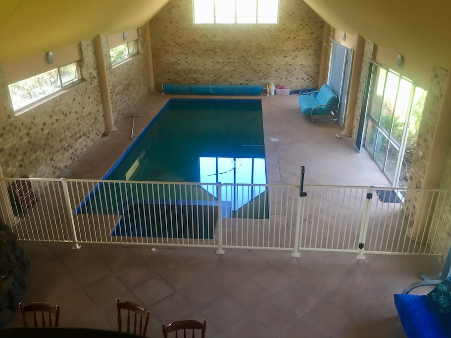 Indoor pool - view from upstairs balcony