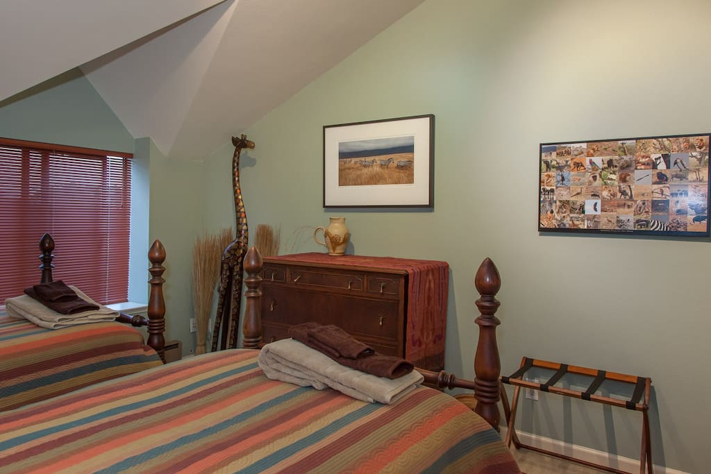 Enjoy safari decor in the Africa Room.
