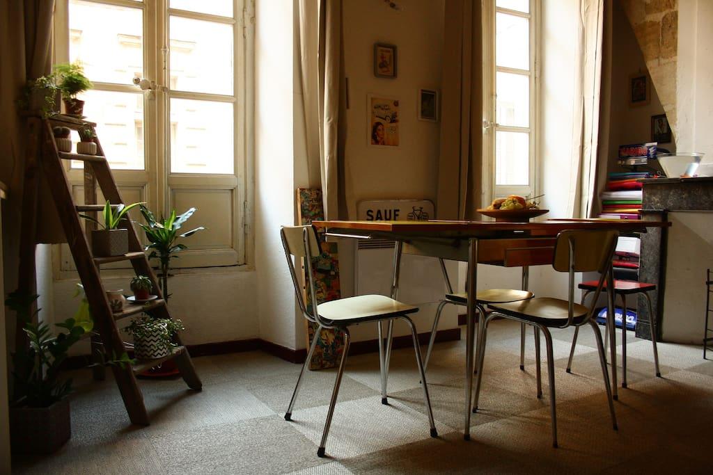 Charmant loft plein centre 50m2 appartements louer for Location appartement bordeaux 50m2
