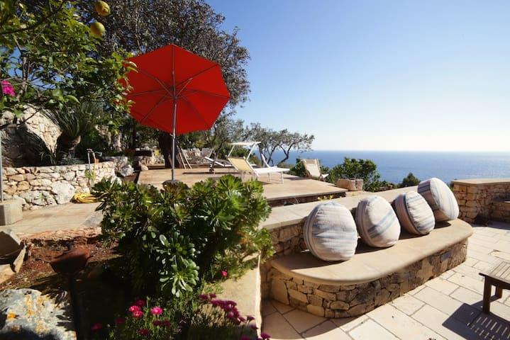 Villa da sogno strapiombo sul mare - Marina Serra - Villa