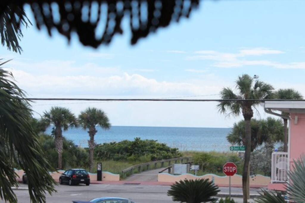 View from the condo's small balcony.