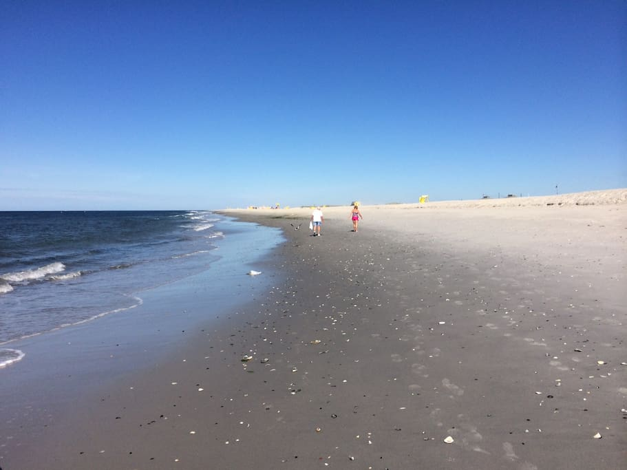 Point Lookout beach extends for miles all the way down the coast of Long Beach Island to Atantic Beach. And the trail starts right outside your front door.