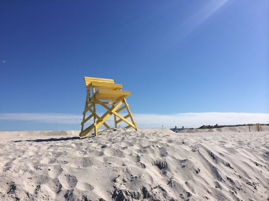 Life guards are on duty all summer. But Point Lookout Beach is known for its safety.