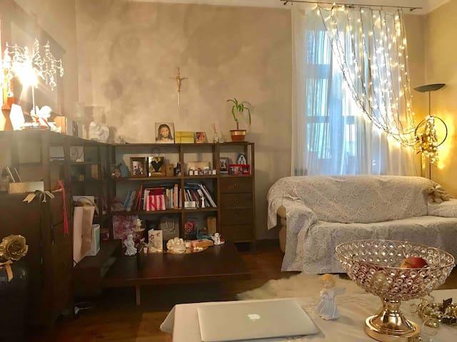 Cosy, warm living room..