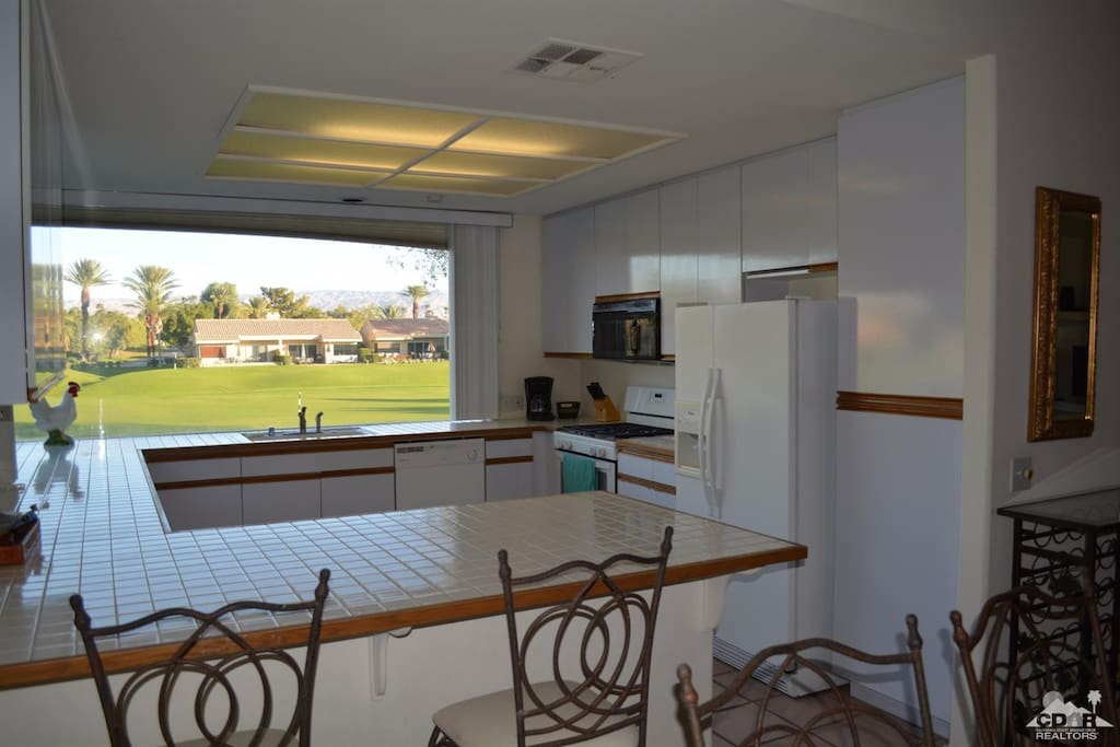 Kitchen w/ Golf Course Views