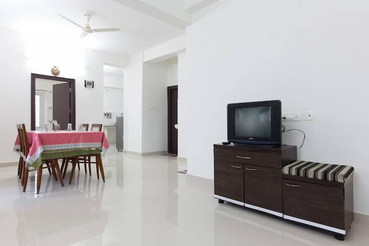 2BHK apartment on top floor