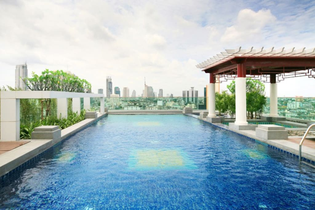 Swimming pool on 19 floor.