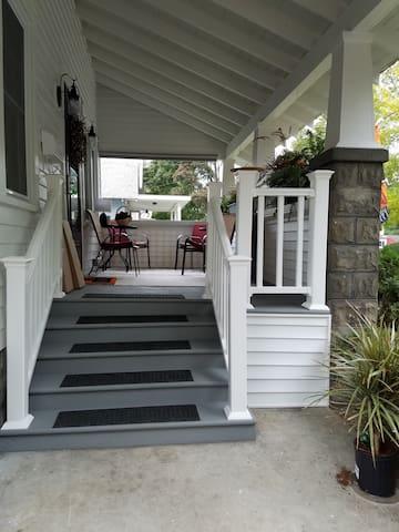 Refurbished front porch