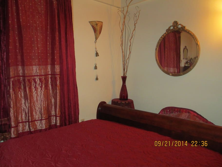 Another photo of the master bedroom.