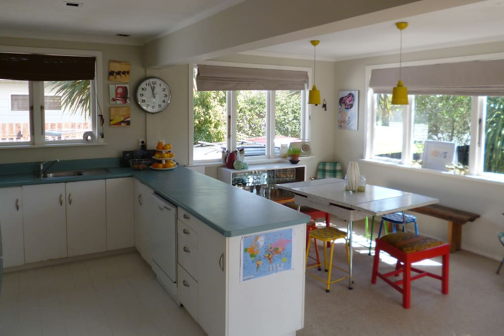 Light, Bright Kitchen and Dining
