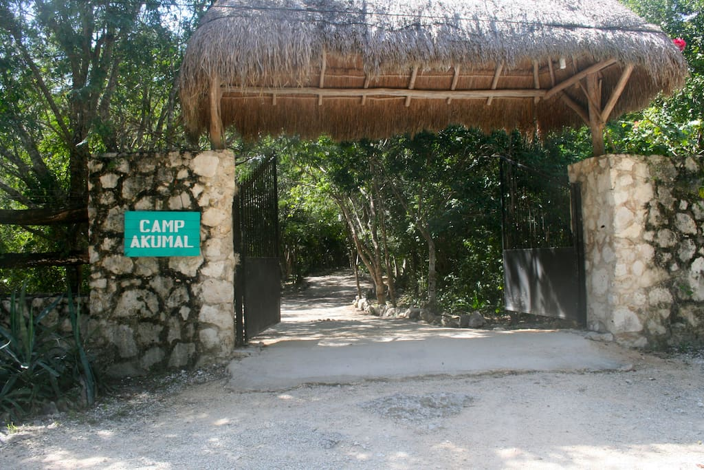 Welcome home!  Camp Akumal gated entry