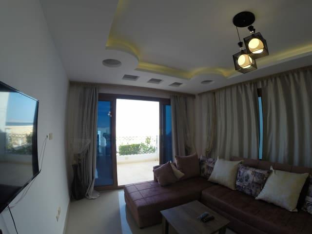 First-floor living room.