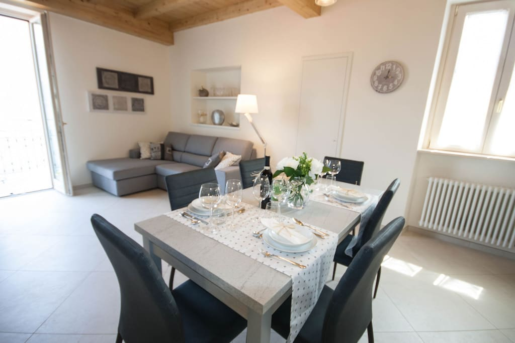 dining and living areas
