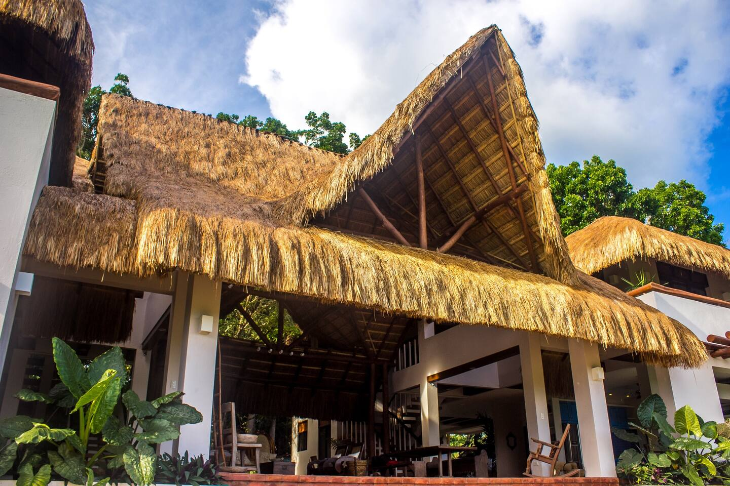 La Casita de Baclayon, luxurious and comfortable, yet environmentally sustainable, and integrated within the surrounding rainforest, overlooking the Bohol Sea.