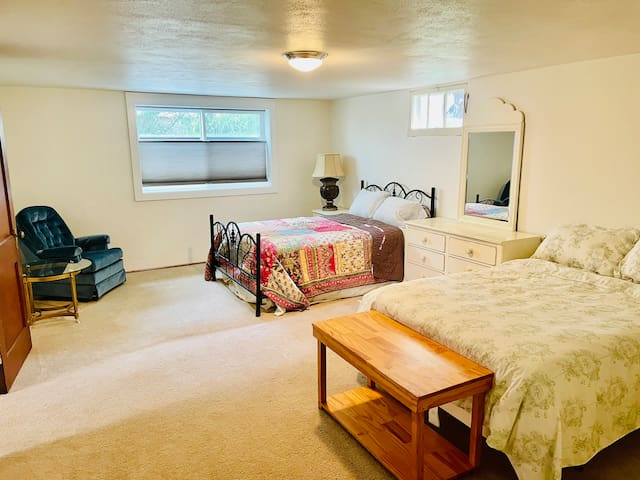 Two full beds  - lower level