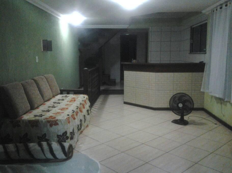sofa cama e cozinha ,sala