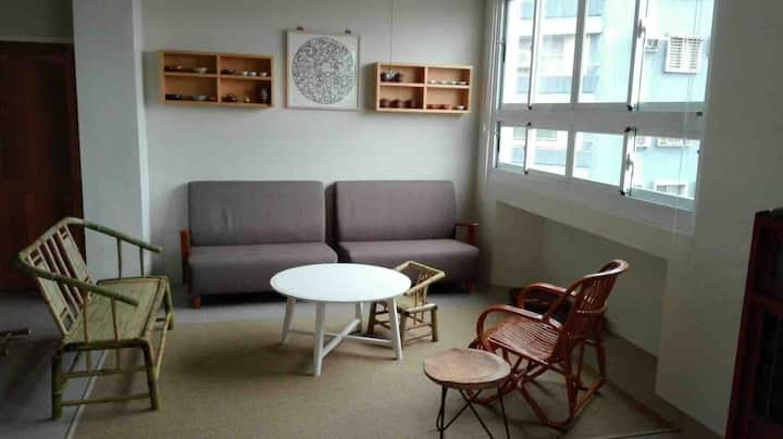 studio for monthly rent, 2 rooms 1 living room