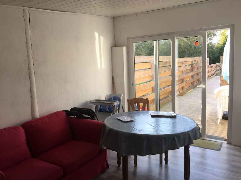 Veranda et vue sur terrasse