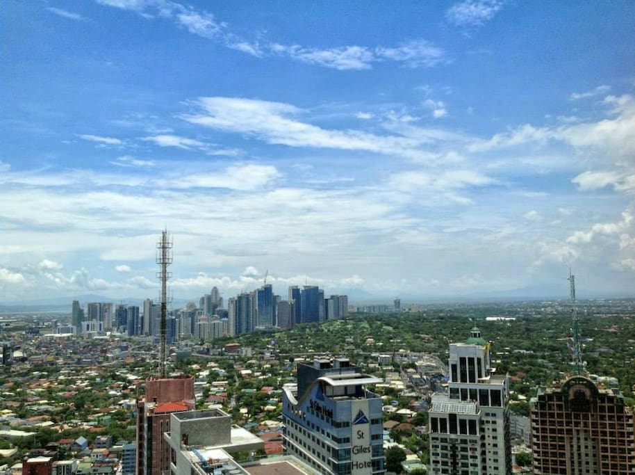Spectacular view of Global City and Forbes Park