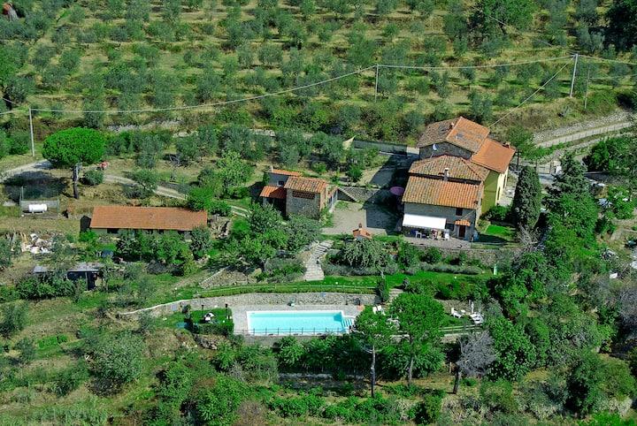 Vallereggi Country villa con Piscina. Super Vista