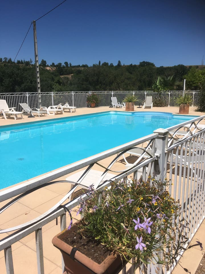 Grand gîte avec piscine proche d'Albi