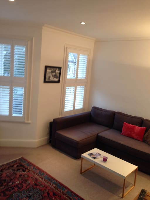 Large sofa- could be used for an extra guest