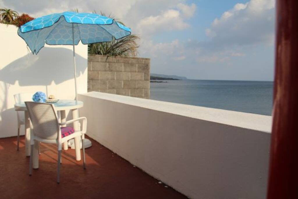 Balcony over the sea