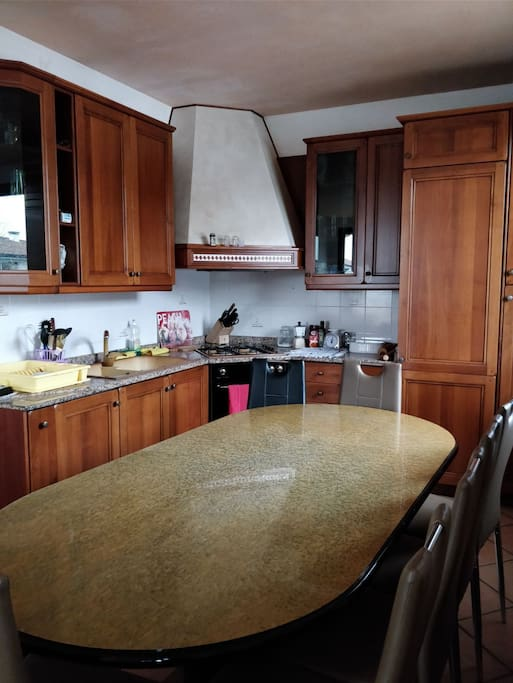 Kitchen and dining room table for 8