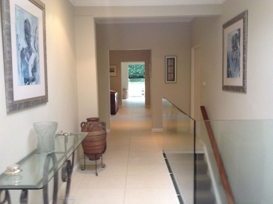 View of hallway  through to back garden area from front entrance
