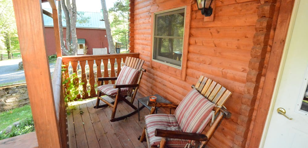 Lloyd's Lodge - New Pocono Log Cabin Guest House - Tannersville - House