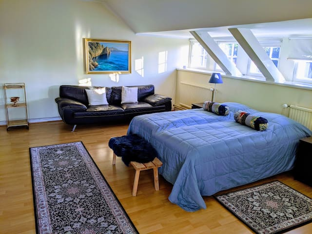 Spacious room in nice Helsinki Brändö villa