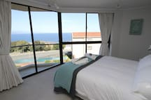 Main bedroom with a fantastic view !