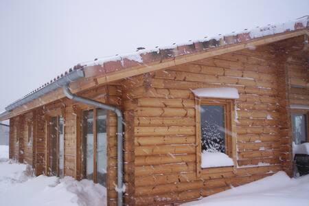 Chambre dans maison en bois massif - Lavelanet - Inap sarapan