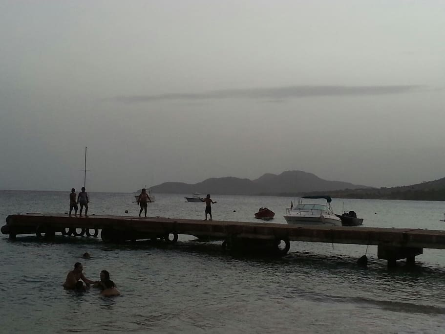 Pier in Esperanza a favorite place in town for a dip.