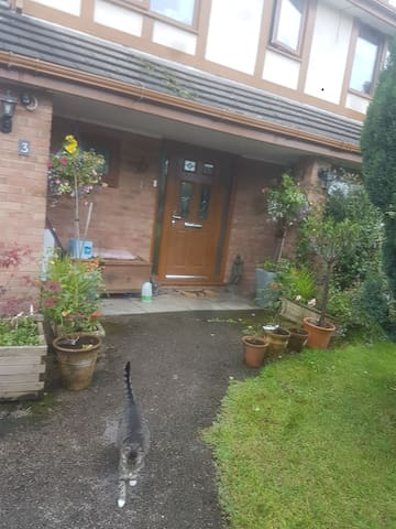 Large garden. Level entrance to the front door.