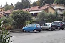 The parking in front of the house