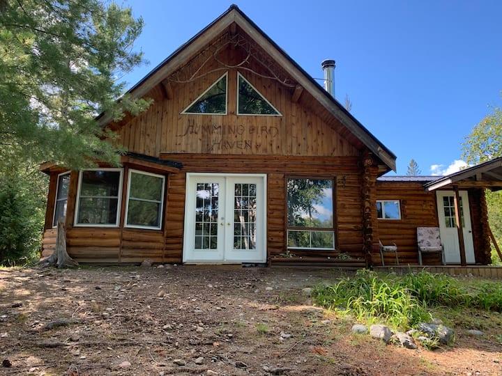 Escape and unwind in a private log cabin