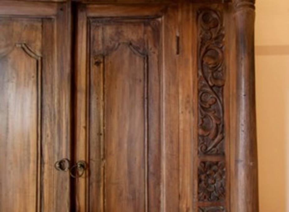 Detail of antique wardrobe