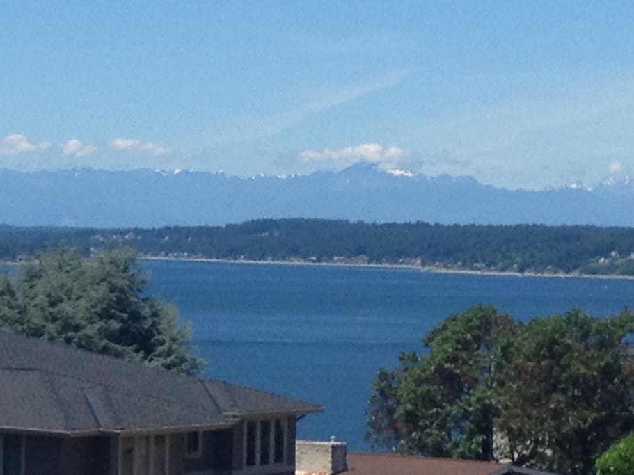 Take in the Puget Sound and Olympic Mountain views.