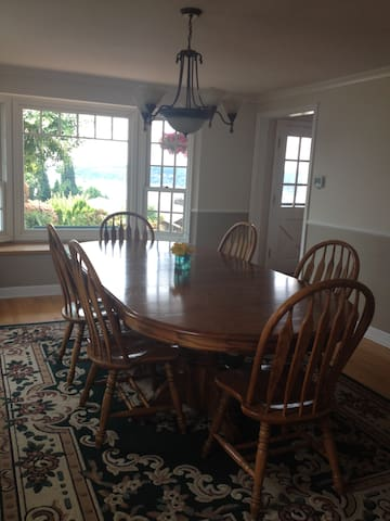 Dining Table seats 12.
