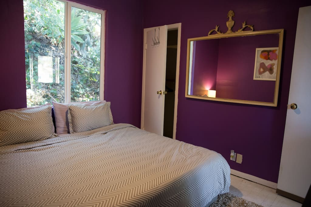 The Regal Room equipped with a king size mattress, closet and beautiful regal decor