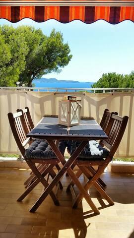 Accès privé plage & vue mer dans parc 3 hectares - Hyères