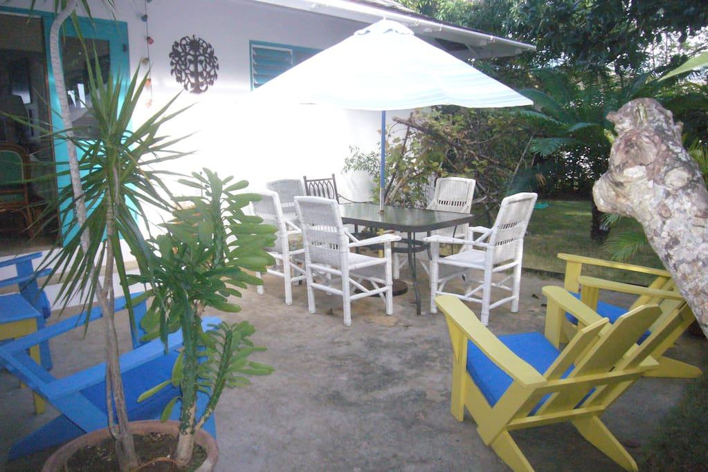 back patio area