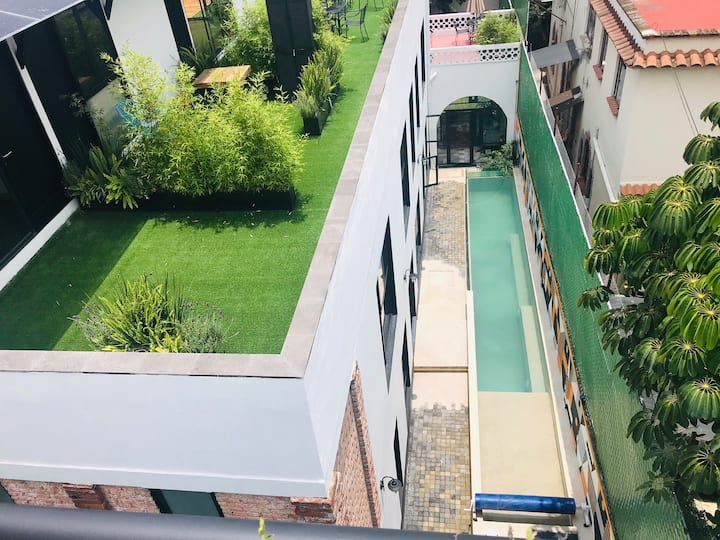BEAUTIFUL LOFT/COYOACÁN/Enjoy OPEN POOL&TERRACE⭐️