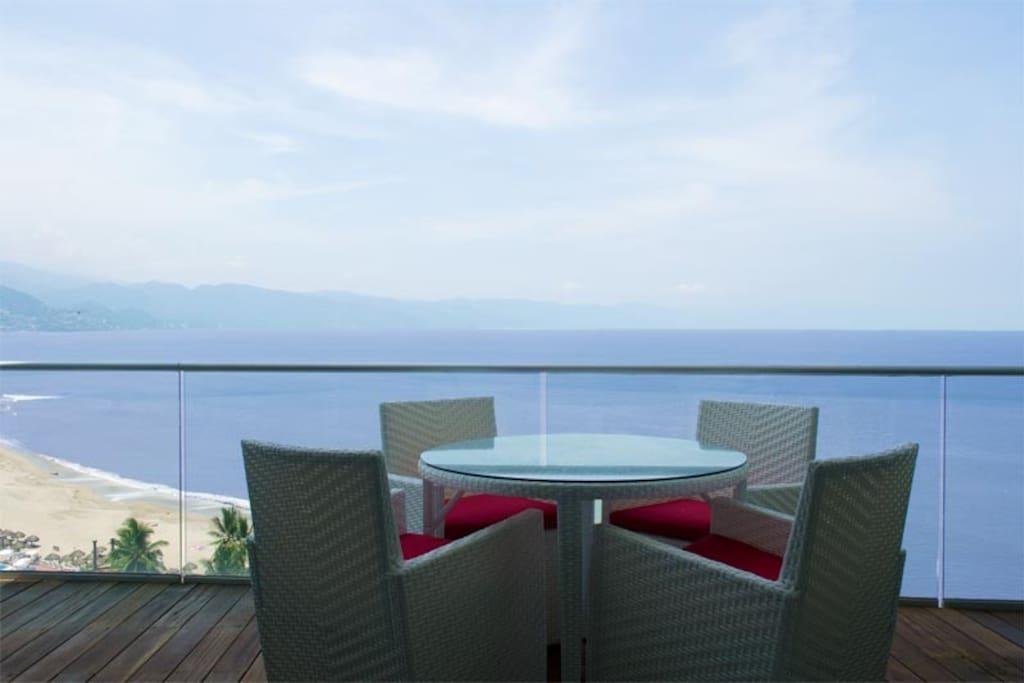 Enjoy a delightful breakfast from your terrace
