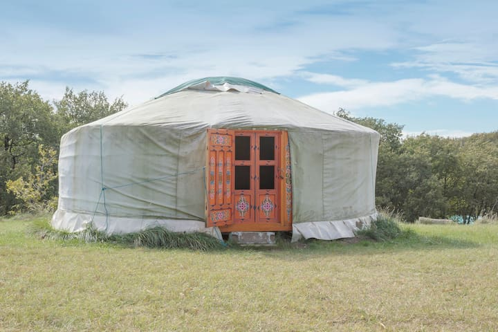 Beautiful yurt in Cathar country - Payra-sur-l'Hers - Jurtta
