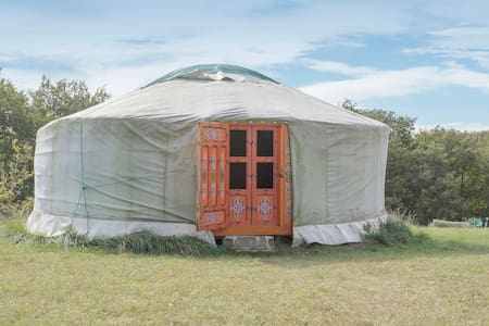 Beautiful yurt in Cathar country - Payra-sur-l'Hers - Khemah Yurt