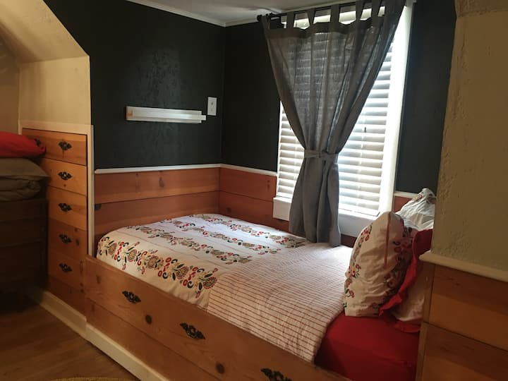 DownTown E. Main St. Shiplap bedroom available.