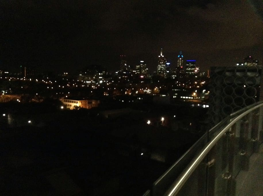 Stunning views over Melbourne
